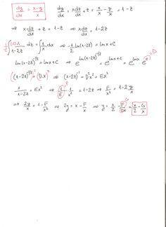 Solución del ejercicio 6 de ecuaciones diferenciales homogéneas