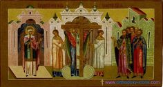 Icons from the Romanov dynasty.