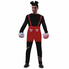DisfracesMimo, disfraz de ratón zombie hombre talla m/l. Lo pasarán de muerte asustando a los pequeños en la noche de Terror y halloween. Este disfraz es ideal para tus fiestas temáticas de miedo y cuento para adulto