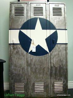 Industrial Locker with Marine Corps Roundel.