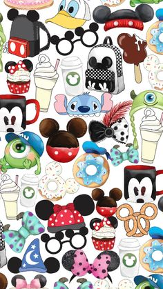 disney fabric,mickey mouse, minnie mouse fabric, f Disney Collage, Art Disney, Disney Kunst, Cartoon Wallpaper, Mickey Mouse Wallpaper, Disney Phone Wallpaper, Iphone Wallpaper, Disney Doodles, Disney Cartoons