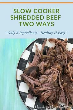 Slow Cooker Shredded Beef is the ideal cook once dine twice meal. This basic recipe can be eaten as-is or used for multiple recipe ideas. #slowcookerrecipes #healthyslowcookerrecipes #shreddedbeefcrockpot #easyshreddedbeefcrockpot #thebestshreddedbeefcrockpot Beef Shoulder Roast, Slow Cooker Shredded Chicken, Nutrition Articles, Slow Cooker Recipes, Family Meals, Dinner Recipes, Favorite Recipes, Eat, Cooking