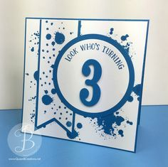 Stampin' Up! Number of Years Stamp and Framelit bundle with Gorgeous Grunge in Pacific Point for ppa288