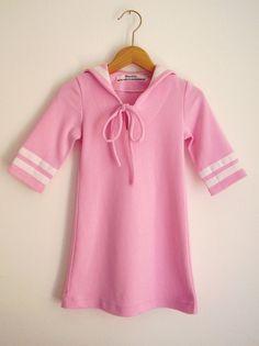 TÄGLICH JERSEY Kleid, Rosa Kinder Jersey Sailor Kleid, Slim Fit, drei-Viertel Ärmel, gemütliche weichen Baumwolle, süßen Maritime Mädchens-S...