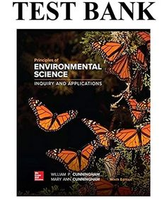 Principles of Environmental Science Edition Test Bank By Cunningham Science Inquiry, Environmental Science, Catch App, Mcgraw Hill, Learning Activities, Textbook, Manual, William Cunningham, Education Publication