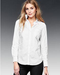 Camisa oxford de mujer Gap en blanco