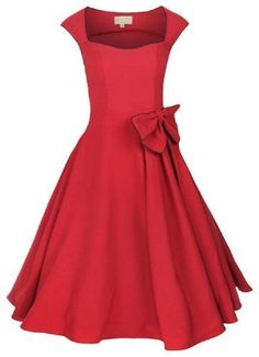 a6da9d60c514 Lindy Bop `Grace` Vintage Rockabilly Style Bengaline Bow Swing Party  Evening Dress (bestseller) reminds me of like what Anita would wear in West  Side Story