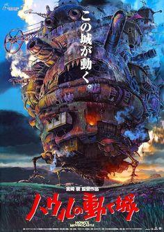 Howl's Moving Castle POSTER Rare Japanese Miyazaki BIG   eBay