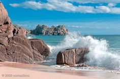 Porthcurno beach in West Penwith, Cornwall.