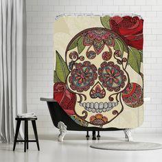 Valentina Ramos - Sugar Skull Shower Curtain