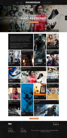 Roundhouse Agency Website on Web Design Served  http://www.webdesignserved.com/gallery/Roundhouse-Agency-Website/6188521