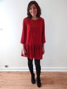 Comme beaucoup j'aime les collections Sezane. J'ai eu envie de copier partiellement la robe Anna(je n'ai pas mis d'empiècements au dos ni de bride de boutonnage). J'a…