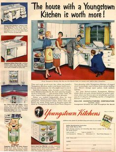 1950s kitchen images | 1950s kitchens and some bathrooms, too - Retro Renovation