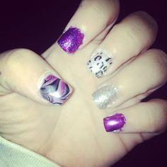 Purple nails @Victoriabielak