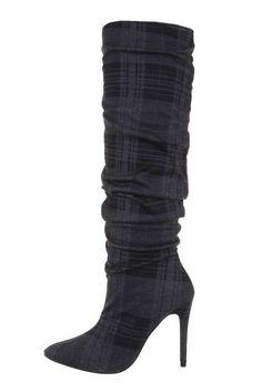 Dámske kárované našuchovacie čižmy na ihličkovom opätku. Heels, Boots, Fashion, Crotch Boots, Moda, Heeled Boots, Shoes Heels, Shoe Boot, Fasion
