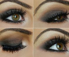 Bridal make up: Smokey Taupe Eyeshadow Tutorial. Taupe Eyeshadow, Best Eyeshadow, Smokey Eyeshadow, Makeup Eyeshadow, Summer Eyeshadow, Glitter Eyeshadow, Beauty Make-up, Beauty Hacks, Hair Beauty