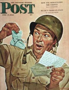 1944-06-17: Baby Booties at Boot Camp (Howard Scott) Saturday Evening Post