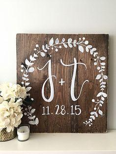 Wedding Decor Monogram Wedding Sign by SalvagedChicMarket