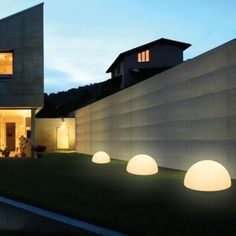 The Ohps! Outdoor Floor Lamp, smartly created by Linea Light is an artistically designed half-sphere lamp that ensures to make surroundings look prettier than before. Outdoor Floor Lamps, Outdoor Flooring, Outdoor Lighting, Contemporary Floor Lamps, Modern Floor Lamps, Italian Lighting, Modern Lighting, Modern Backyard, Backyard Ideas