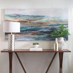 Teal Waves Canvas Art Print | Kirklands