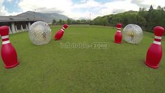 Buy Free shipping,4 human bowling balls with 2 zorb ball for sale bowling 1 from Human Hamster Ball store for all kind of inflatable products,shop now - Inflatable-zone