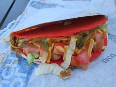 Taco Bell's Fiery Doritos Locos Tacos.  These things are just awesome!