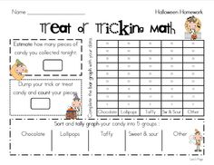 Trick or Treating Math - FREEBIE as seen on Second Grade Squad  www.secondgradesquad.com