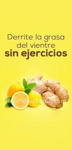 3 cm jengibre,limón,espinacas y agua.licuar y 30 min. antes de cena