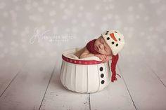 Ensemble chapeau et foulard bonhomme de neige