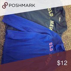 Two fleece zip-ups Dark gray and bright blue fleece zip-ups in good condition. Old Navy Tops Sweatshirts & Hoodies