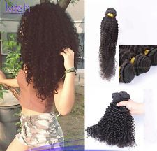 "Kinky Curly Brazilian Virgin Hair Human Hair Weave Extensions 50g/Bundles 8""-30"" $12.79 to $29.99"