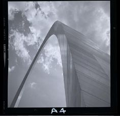 Gateway Arch on May 14, 1968, just days before the official dedication ceremony held on May 25. Photograph by Henry T. Mizuki. Mac Mizuki Photography Studio Collection, Missouri History Museum. | collections.mohistory.org
