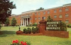 A picture of Memphis State University before they changed the name to the University of Memphis. Old-timers still refer to it as they knew it, Memphis State. It's just easier to refer to it as MEMPHIS ; Memphis Tennessee, University Of Tennessee, State University, Greatest Adventure, Adventure Awaits, Bluff City, Memphis Tigers, My Kind Of Town, Great Memories