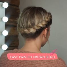 Braided Headband Tutorial, Braid Headband, Crown Braids, Braids For Medium Hair, Hair Tutorials For Medium Hair, Braided Crown Hairstyles, Headband Hairstyles, Hair Up Styles, Medium Hair Styles