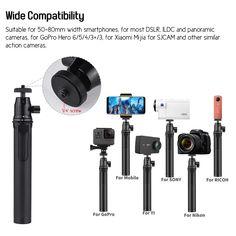 LDX-809 Suit Portable Telescopic Aluminum Alloy Selfie Stick Sales Online 1# - Tomtop Bluetooth, Appareil Photo Reflex, Support Telephone, Smartphone, Selfie Stick, Gopro Hero, Aluminium Alloy, Telescope, Portable