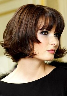 Cute Bob Haircut for Blunt Bangs