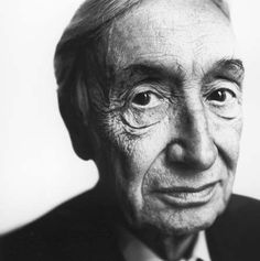 """Sir Alfred Jules """"Freddie"""" Ayer (1910-1989) - British philosopher known for his promotion of logical positivism, particularly in his books Language, Truth, and Logic (1936) and The Problem of Knowledge (1956). Photo by Steve Pyke, 1980s"""