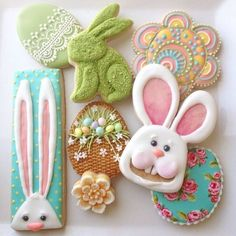 Image result for easter bunny decorated cookies