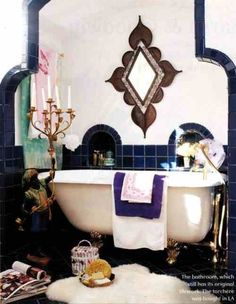 Arab inspired bathroom.
