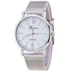 New Style Geneva Watch Silver Band Women Wristwatch Quartz Watches Casual relogio feminino