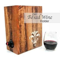 Not that I drink box wine, but cute idea for parties - 20 Wine Inspired Projects | Mom 4 Real