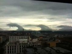 Kelvin-Helmholtz Wave Clouds Over Birmingham