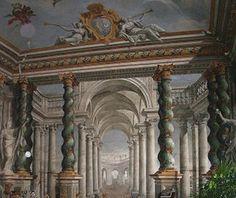 Palazzo Contucci, Montepulciano (Siena), Italy; frescoed decoration attributed to Andrea Pozzo (1642-1709).