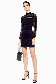 79ff6678bb2dc Scallop Lace Trim Dress. 夕方の服装休日のパーティードレス ...