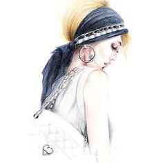 Chanel Chic - Print of Original Fashion Inspired Illustration found on Polyvore