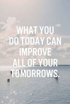 Tap image for more inspiring quotes. Improve Tomorrow - @mobile9   quotes about life, motivational quotes to live by