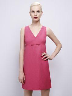 PAULE KA Little Dresses, Dresses For Work, Paule Ka, Shoulder Dress, High Neck Dress, Collection, Elegant, Casual, Pink