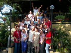 guests pose for a souvenir picture at Mira Mar