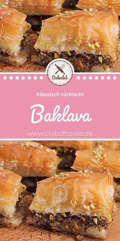 Baklava BakeClub We have all seen it once at the kebab shop around the corner But what does the Turkish specialty b Quick Dessert Recipes, Easy Cake Recipes, Easy Desserts, Snack Recipes, Greek Recipes, Mexican Food Recipes, Egyptian Desserts, Avocado Dessert, Recipe For 4