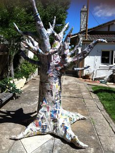 Hands In Clay: How To Make A Paper Mache Tree